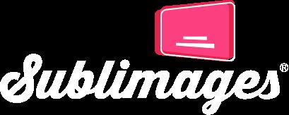 Logotipo negativo de la empresa de traducción para subtítulos Sublimages